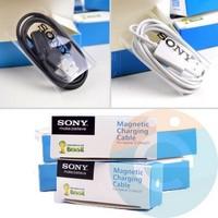USB кабель для Sony Xperia Z Ultra/Z1 категории 2 в коробке магнитный чёрный