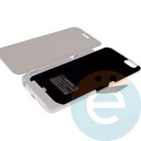Накладной аккумулятор JLW-6GT 3800 mAh на Apple iPhone 6 (с флипом) белый