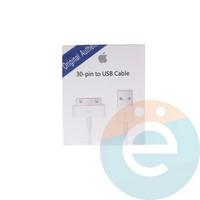 USB кабель для Apple iPhone 4/4s, iPad 2/3 оригинал в коробке белый