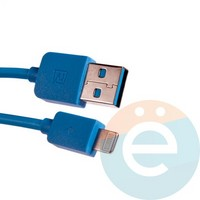 USB кабель Remax RC-06i на Lightning голубой