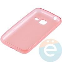 Накладка силиконовая ультра-тонкая на Samsung Galaxy J1 mini прозрачно-красная