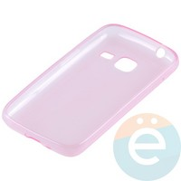 Накладка силиконовая ультра-тонкая на Samsung Galaxy J1 mini прозрачно-розовая