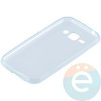 Накладка силиконовая ультра-тонкая на Samsung Galaxy J1 SM-J100 (2015) прозрачно-зелёная
