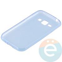 Накладка силиконовая ультра-тонкая на Samsung Galaxy J1 SM-J100 (2015) прозрачно-синия