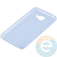 Накладка силиконовая ультра-тонкая на Samsung Galaxy A7 (2016) SM-A710 прозрачно-синия