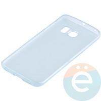 Накладка силиконовая ультратонкая на Samsung Galaxy S6 Edge прозрачно-зелёная
