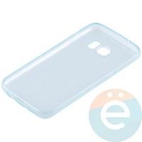 Накладка силиконовая ультратонкая на Samsung Galaxy S7 прозрачно-зелёная
