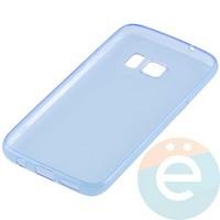 Накладка силиконовая ультратонкая на Samsung Galaxy S7 прозрачно-синия