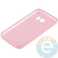 Накладка силиконовая ультратонкая на Samsung Galaxy S7 прозрачно-красная