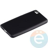 Накладка силиконовая Soft Touch на Xiaomi Mi 5 чёрная