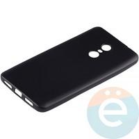 Накладка силиконовая Soft Touch на Xiaomi Redmi Note 4X чёрная