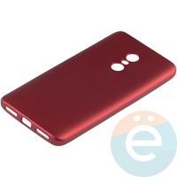 Накладка силиконовая Soft Touch на Xiaomi Redmi Note 4 красная