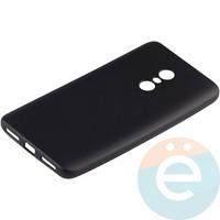 Накладка силиконовая Soft Touch на Xiaomi Redmi Note 4 чёрная