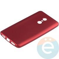 Накладка силиконовая Soft Touch на Xiaomi Redmi Note 4X красная