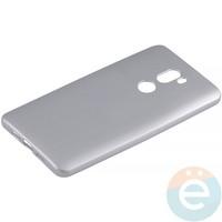Накладка силиконовая Soft Touch на Xiaomi Mi 5s Plus серебристая