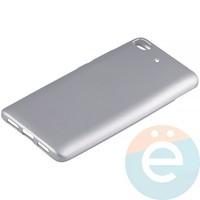 Накладка силиконовая Soft Touch на Xiaomi Mi 5s серебристая