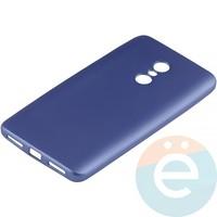 Накладка силиконовая Soft Touch на Xiaomi Redmi Note 4 синяя