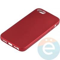 Накладка силиконовая Soft Touch на Apple iPhone 5/5s/SE красная