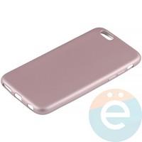 Накладка силиконовая Soft Touch на Apple iPhone 6/6s розовая