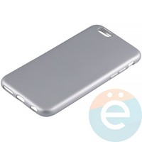 Накладка силиконовая Soft Touch на Apple iPhone 6/6s серебристая