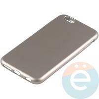 Накладка силиконовая Soft Touch на Apple iPhone 6/6s золотистая