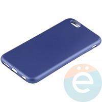 Накладка силиконовая Soft Touch на Apple iPhone 6/6s синяя