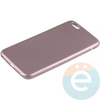 Накладка силиконовая Soft Touch на Apple iPhone 6 Plus/6s Plus розовая
