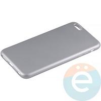 Накладка силиконовая Soft Touch на Apple iPhone 6 Plus/6s Plus серебристая