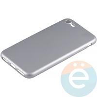 Накладка силиконовая Soft Touch на Apple iPhone 7/8 серебристая