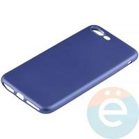 Накладка силиконовая Soft Touch на Apple iPhone 7 Plus/8 Plus синяя