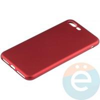 Накладка силиконовая Soft Touch на Apple iPhone 7 Plus/8 Plus красная