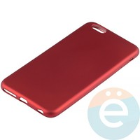Накладка силиконовая Soft Touch на Apple iPhone 6 Plus/6s Plus красная