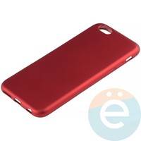 Накладка силиконовая Soft Touch на Apple iPhone 6/6s красная