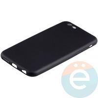 Накладка силиконовая Soft Touch на iPhone 6/6s чёрная