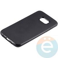Накладка комбинированная Spigen на Samsung Galaxy S7 Edge чёрная