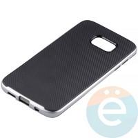 Накладка комбинированная Spigen на Samsung Galaxy S7 Edge серебристая