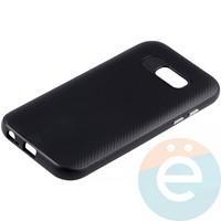 Накладка комбинированная Spigen на Samsung Galaxy A5 (2017) SM-A520 чёрная