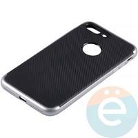 Накладка комбинированная Spigen на Apple iPhone 7 Plus/8 Plus серебристая