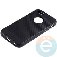 Накладка комбинированная Spigen на Apple iPhone 5/5s/SE чёрная