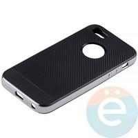 Накладка комбинированная Spigen на Apple iPhone 5/5s/SE серебристая