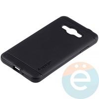 Накладка комбинированная Spigen на Samsung Galaxy J3 SM-J320 (2016) чёрная