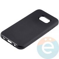 Накладка комбинированная Spigen на Samsung Galaxy S7 чёрная