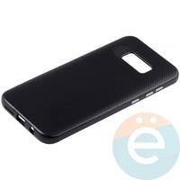 Накладка комбинированная Spigen на Samsung Galaxy S8 Plus чёрная