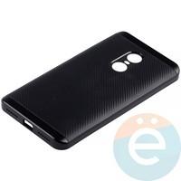Накладка комбинированная Spigen на Xiaomi Redmi Note 4 чёрная
