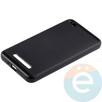 Накладка комбинированная Spigen на Xiaomi Redmi 4a чёрная