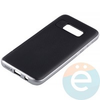 Накладка комбинированная Spigen на Samsung Galaxy S8 серебристая