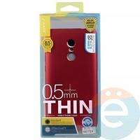 Накладка силиконовая j-Case на Xiаomi Redmi Note 4 красная