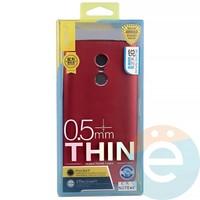 Накладка силиконовая j-Case на Xiаomi Redmi note 4x красная