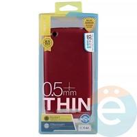 Накладка силиконовая j-Case на Xiаomi Redmi 4a красная