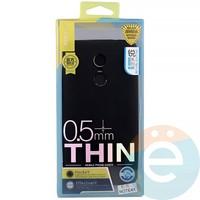 Накладка силиконовая j-Case на Xiаomi Redmi note 4x чёрная